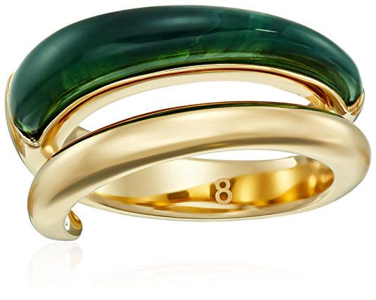 Michael Kors Autumn Luxe Banded Wide Ring, Size 8