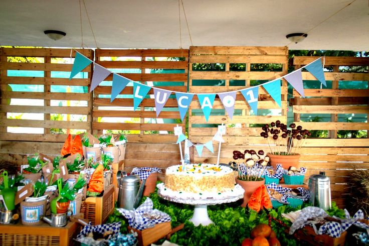 Peter Rabbit Birthday Party Dessert Table - #partydecor