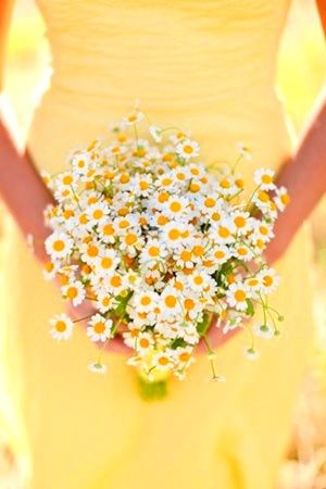 This post has some lovely ideas for simple (money saving) bouquets. My favourite is this all daisy one, so sweet.