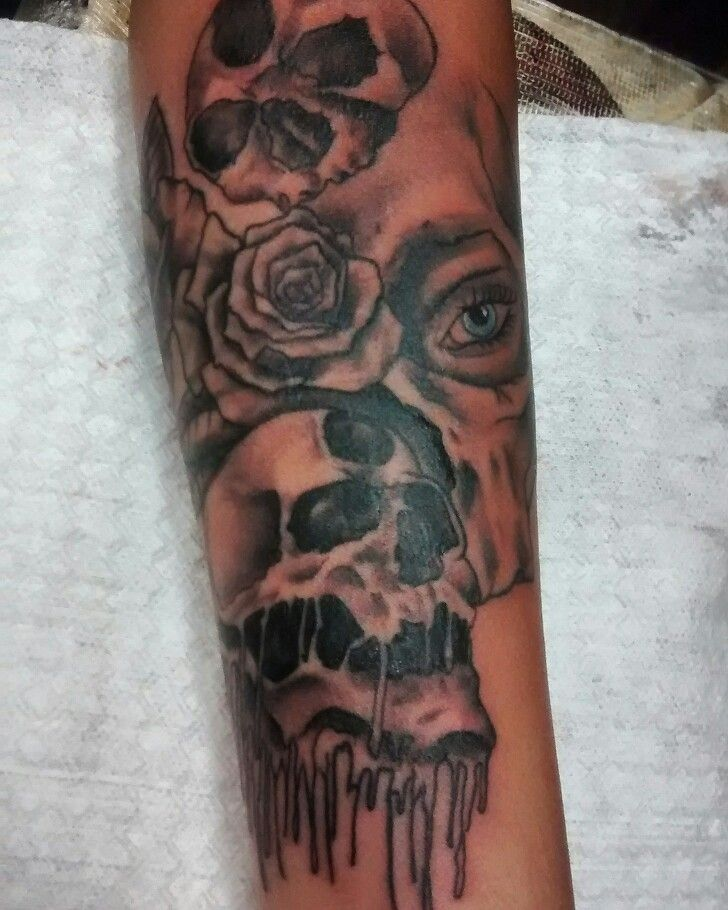 Este Skullcandy Tattoo Diseño de la red