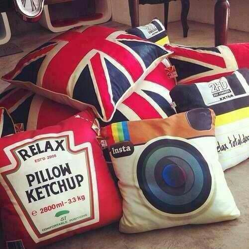insperational pillows. I love the UK and Instagram pillows!
