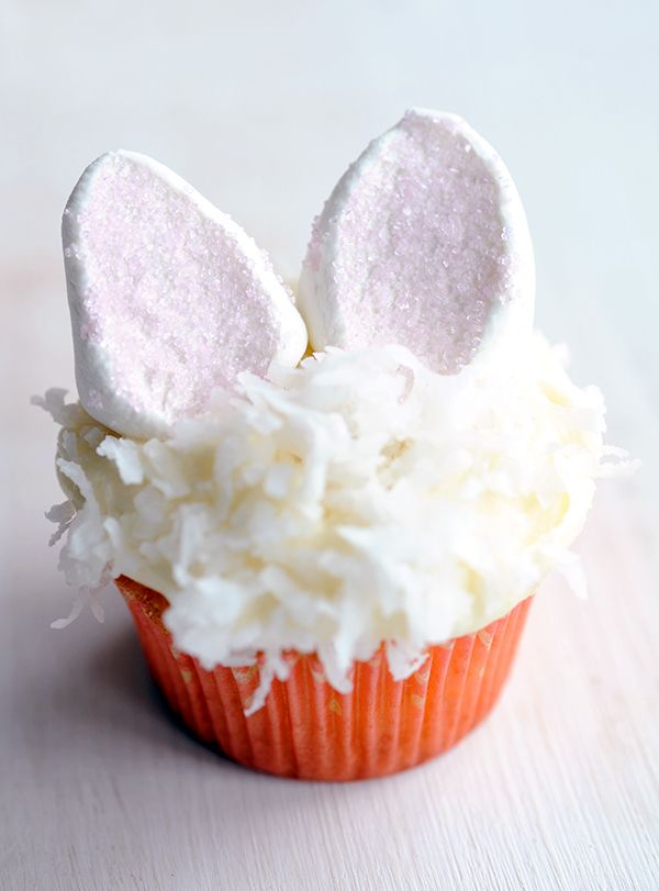 Bunny Coconut Cupcakes by sstylingmyeveryday. Recipe by Ina Garten, #Cupcakes #Coconut #Easter #Bunny