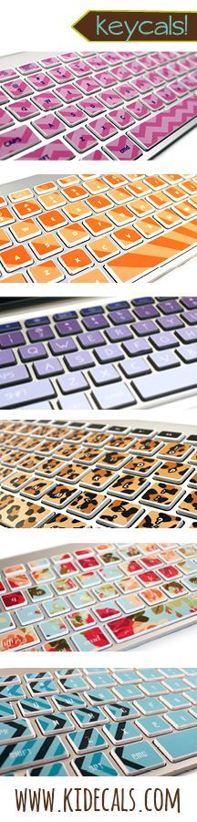 Introducing KEYCALS! Super fun and fancy keyboard stickers to make your computer look awesome.