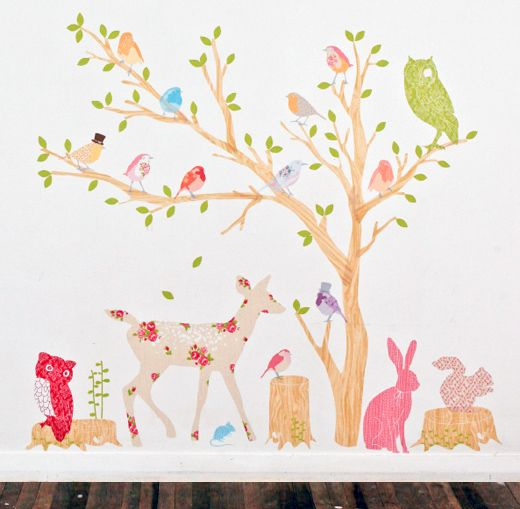 Best Baby Nursery Images On Pinterest Tree Wall Decals - Wall decals on canvas