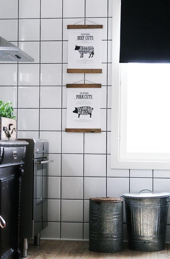Snyggt upphängda posters till köket. Desenio.com