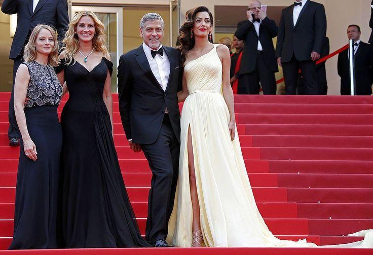 Джордж Клуни и три грации: Джоди Фостер, Джулия Робертс и Амаль Клуни. Фото: REUTERS