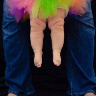 Is there anything cuter than baby fat? :) This is my daughter, in a photo taken by Jackie O. Photography.
