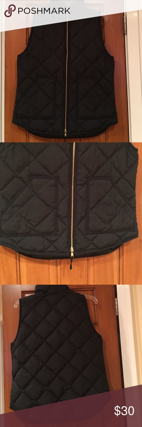 J crew puffer utility vest J crew factory puffer vest in black! Purchased and worn once. Found another vest I liked more. Don't need 2 black vests! J. Crew Factory Jackets & Coats Vests