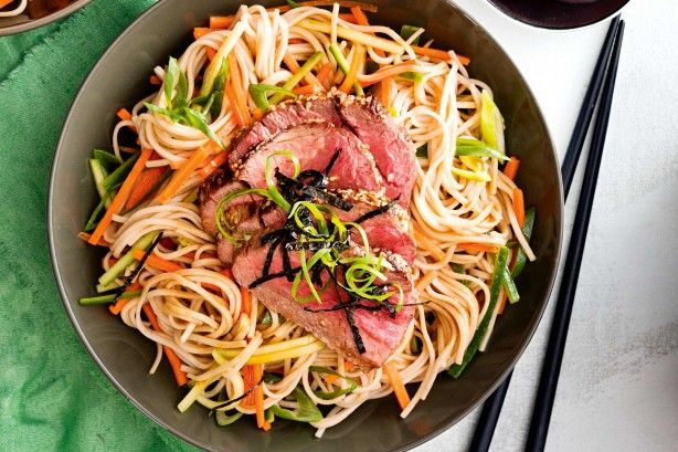 This low-fat beef and soba noodle salad is a delicious option for hot weeknight dinners.