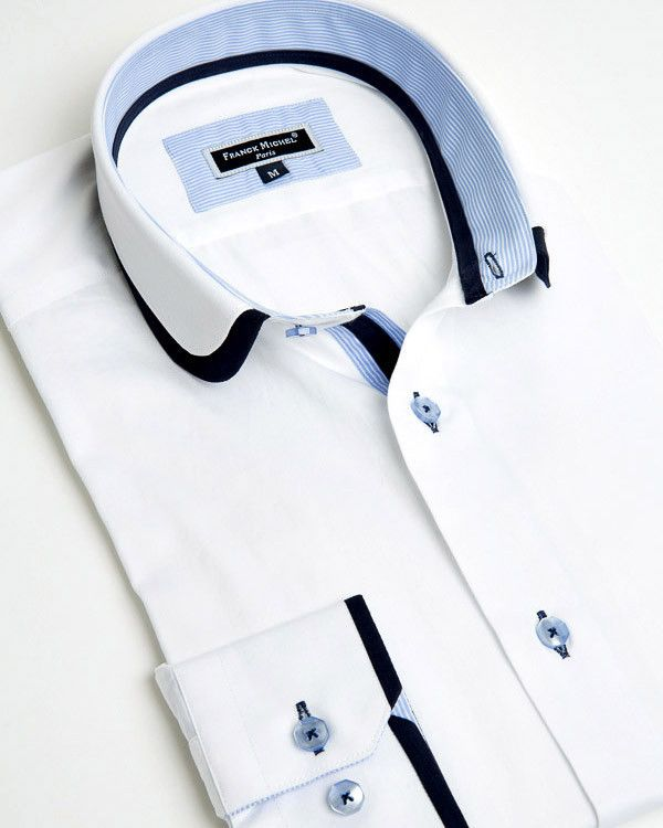 Franck Michel shirt - Claudine Double Collar White