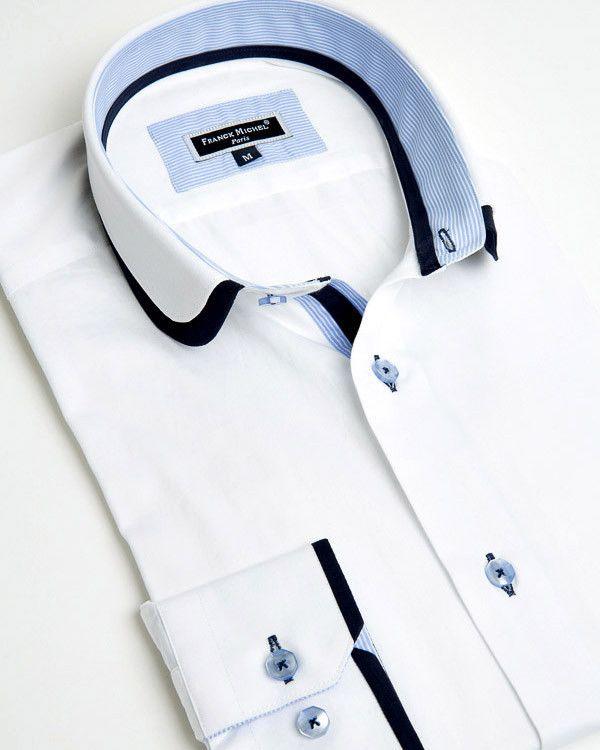 Franck Michel shirt - Claudine Double Collar White
