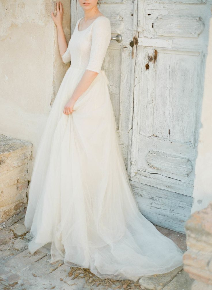 A Line Wedding Dresses for Feminine and Classic brides - Cortana wedding gown | see more - https://www.itakeyou.co.uk/wedding/a-line-wedding-dresses-for-feminine-and-classic-brides: