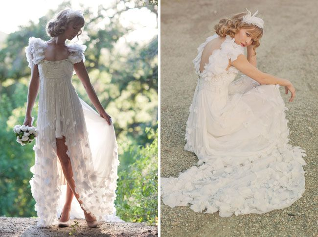 From Green Wedding Shoes, the most stunning gown from Temperley London. Photos by Stephanie Williams