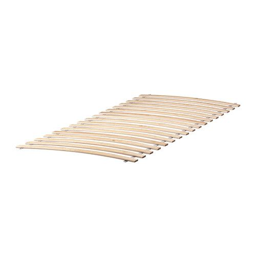 SULTAN LURÖY Slatted bed base IKEA 16 slats of layer-glued birch adjust to your body weight and increase the suppleness of the mattress.