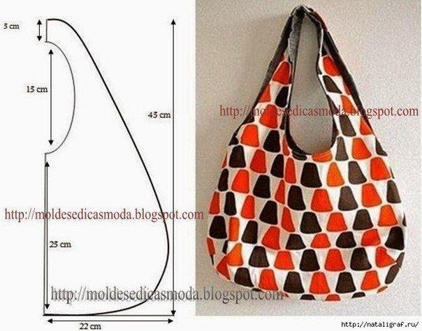 Materiales gráficos Gaby: Corte y confección : Bolso con patrón