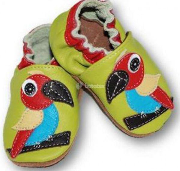 Zvětšit Kožené capáčky Fiorino - papoušek