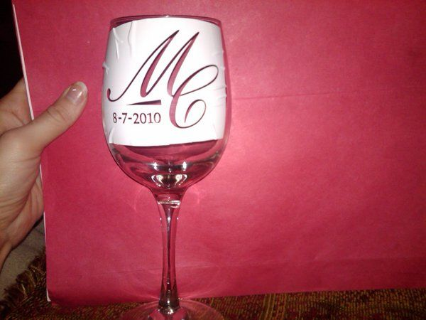 DIY Wedding Challenge 2010 etched Wine glass favors - Project Wedding