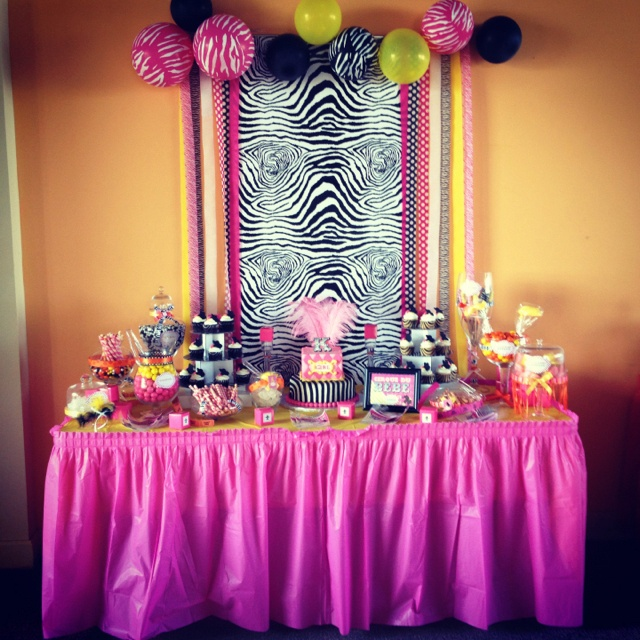 Cirque de bebe baby shower - candy buffet. Done by me :)