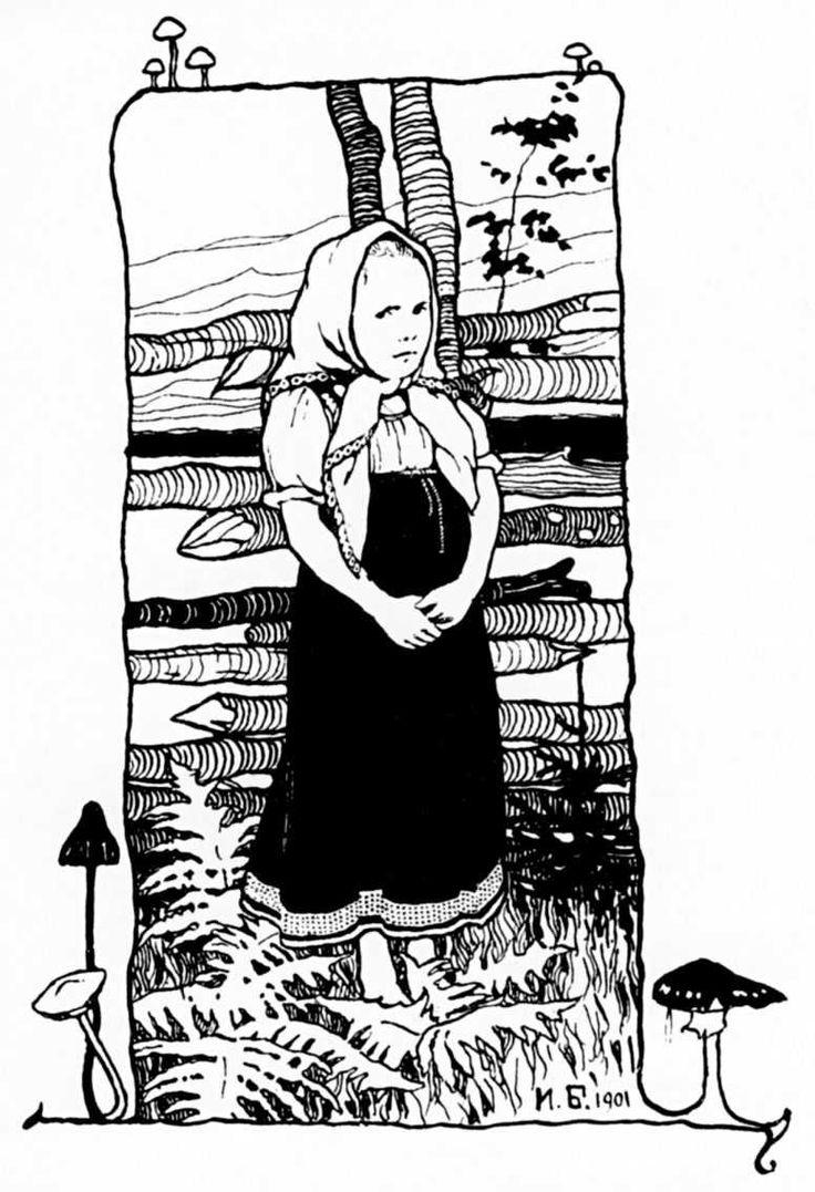 Билибин Иван Яковлевич. Рисунок из книги «Царевна-Лягушка»