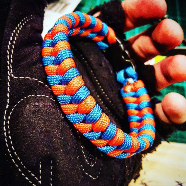 Sky Blue and Neon Orange #Fishtail #Paracord #Survival #Bracelet by UltimateAdventureCo on Etsy