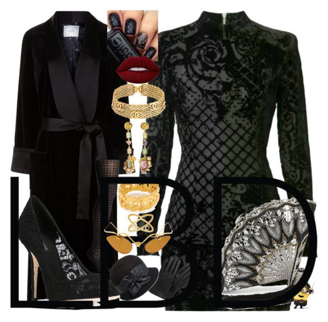 """""""PAINT IT BLACK ! lbd"""" by kuropirate ❤ liked on Polyvore featuring Racil, Balmain, Essie, Smartwool, Dolce&Gabbana, Judith Leiber, Lime Crime, Chanel, Daniela Villegas and SUSAN FOSTER"""