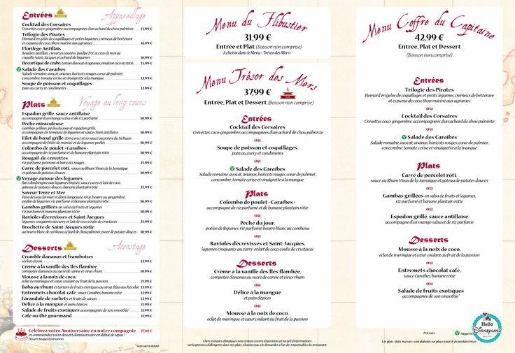 Blue lagoon restaurant menu 2015-2016 poirates des caraibes