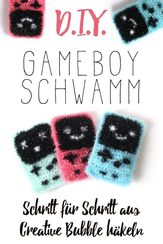 Diy Gameboy Schwamm Handarbeiten Häkeln Schwammgarn