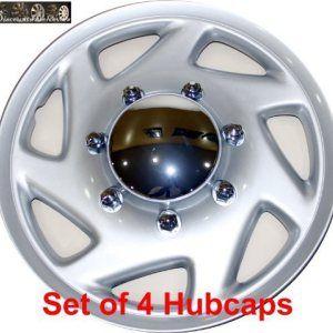 16″ set of 4 Ford Truck Van Hub caps design are UNIVERSAL wheel covers fit most 16″ rims (E150 E250 E350 E450 hubcaps)