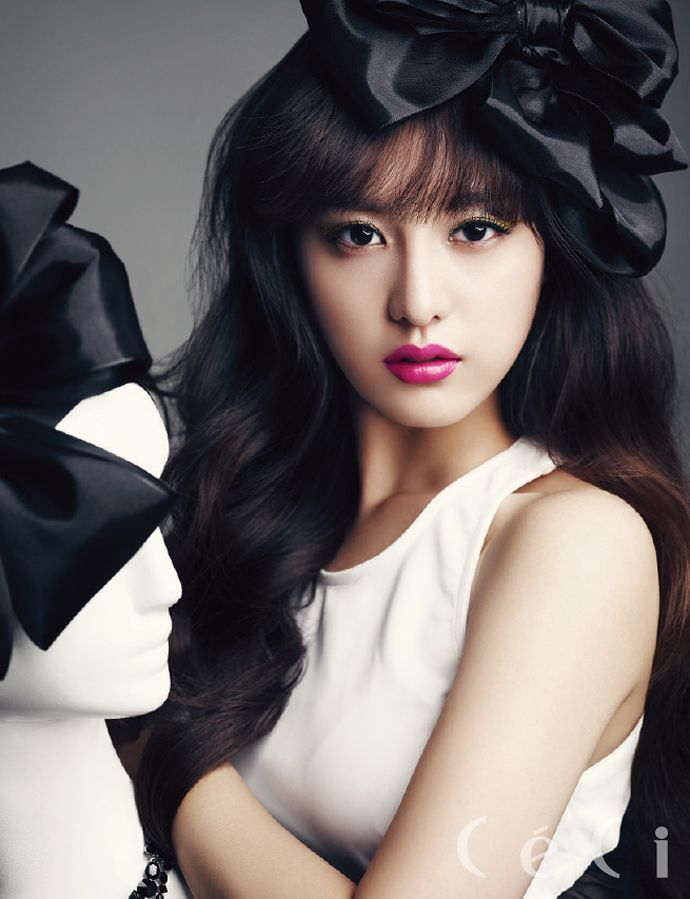 Heirs' Kim Ji Won Is Gorgeous In All Sorts Of Ways In CéCi's December 2013 Issue | Couch Kimchi