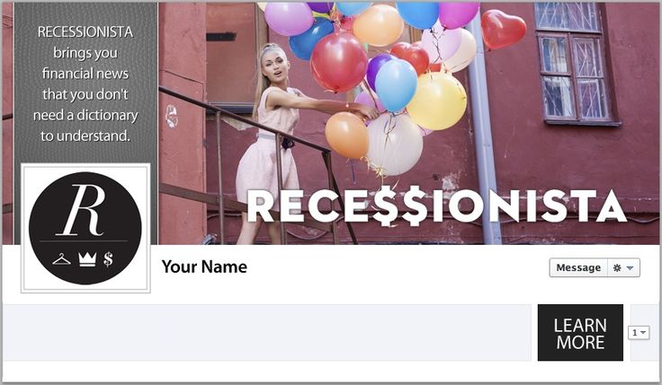 Recessionista Facebook Cover - by TweetPages.com #TweetPages, #Recessionista