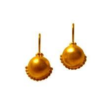 Gold ball drop Earrings (E64)