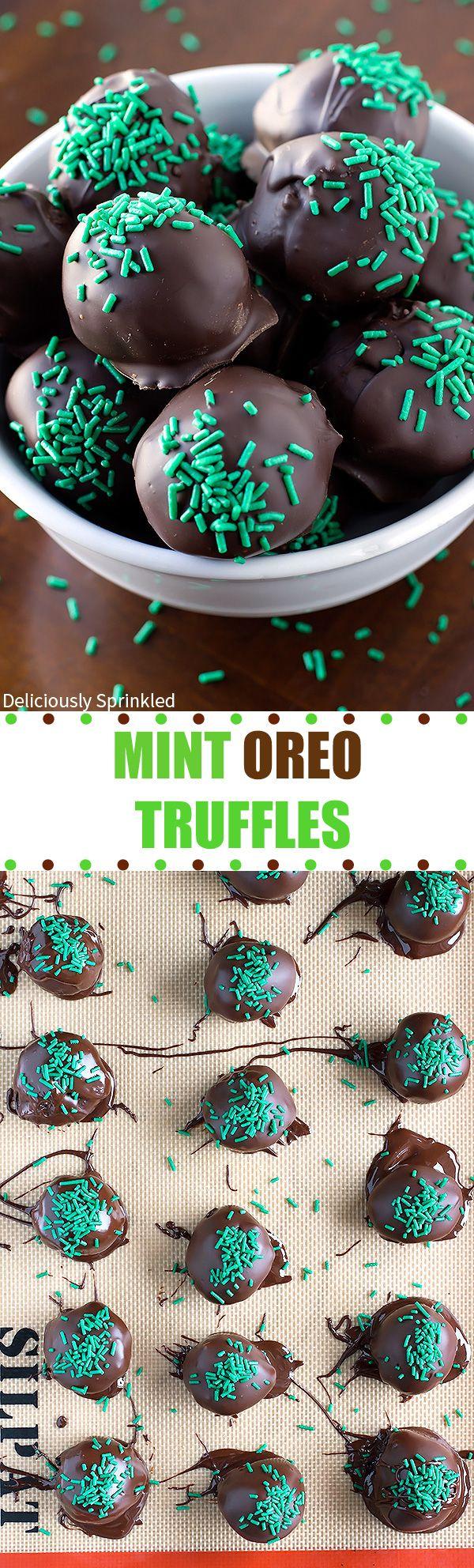 Easy Mint Oreo Truffles