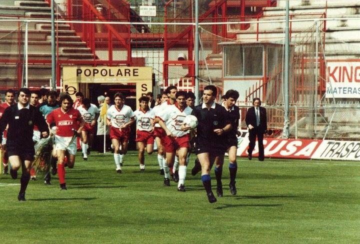Perugia - Salernitana. Di Bartolomei, Ferrara, Incarbona. Serie C1 1989-90