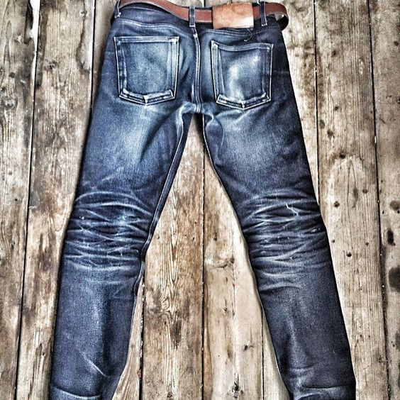 """""""Naked and Famous, Worn for 16 months, 1 wash""""   #denim #jeans #fashion #mode #menswear #rugged #style #Indigo #selvedge  #details #loom #fade"""