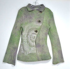 People of The Labyrinths Hand Dyed Wool Fleece Jacket Norway | eBay