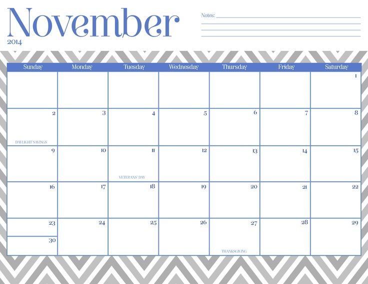 56 Best November 2015 Calendar Images On Pinterest Printable