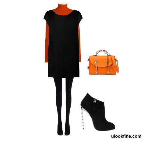 маленькое черное платье в холодную погоду