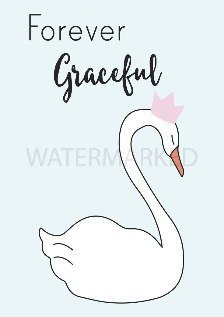"""""""Forever Graceful"""" poster decal - blue   Wondermade   Restickable Inspirational Wall Stickers"""