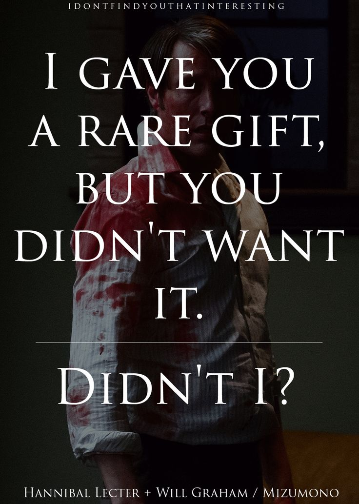One Quote Per Episode - Mizumono. By The Cannibal Service. #Hannibal