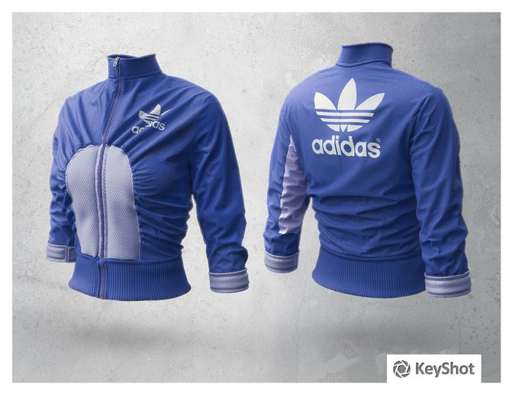 Peter Kolus decided to try out KeyShot. This Adidas jacket is one of his first renderings. His girlfriend Ania Mierzejewska modeled the clothes using Marvelous Designer and Peter created the renderings.
