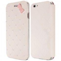 iPhone 6 Plus (5.5 inch) Flip case cover hoesje met strik