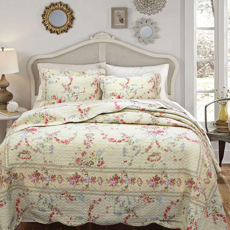 pink romance 3piece kingsize quilt set and optional sham separates