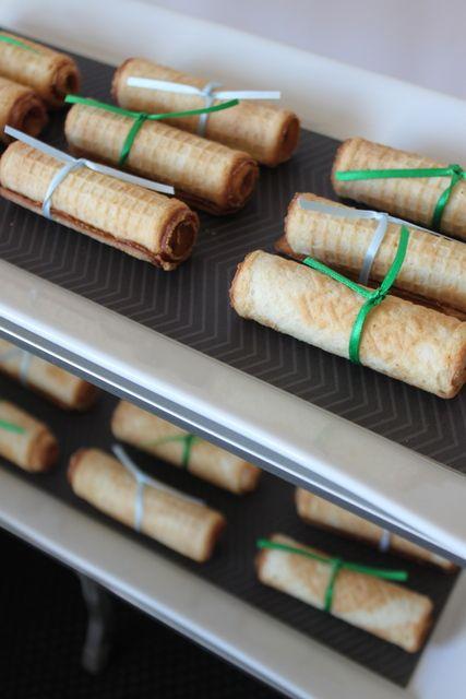 Cute edible diplomas at a Graduation Party #graduaiton #partyfood