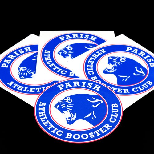 Parish Athletic Booster Club Custom Circle Stickers