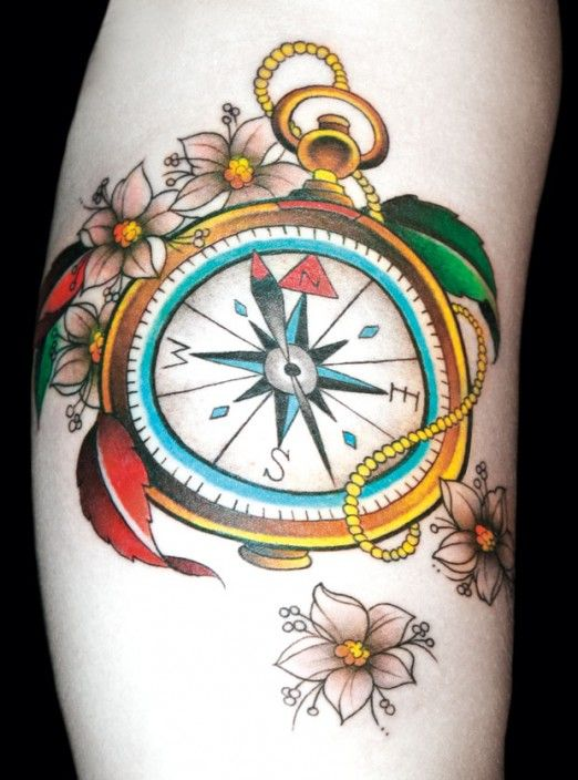 Compass tattoo by Damien Rodriguez