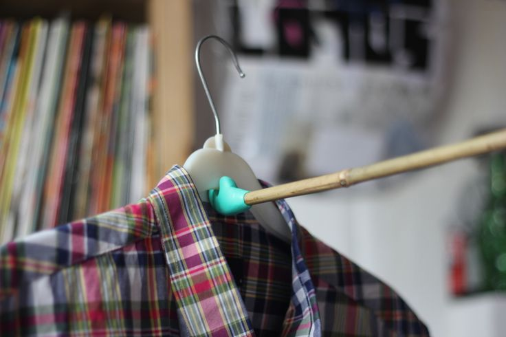 Create a hanger helper,to make an unreachable wardrobe pole ,reachable...will try this for my own wardrobe.