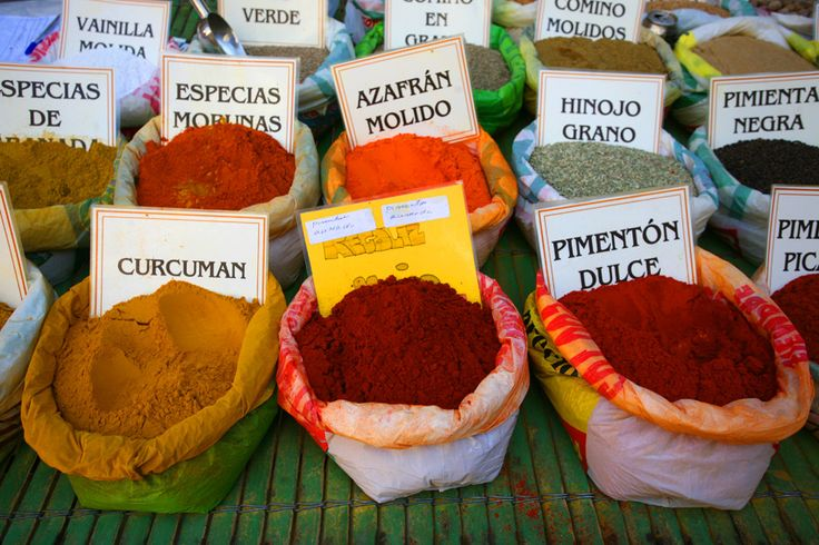 Travel Photography Spain, Spices, Market