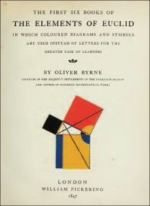 Oliver Byrne. The First Six Books of the Elements of Euclid.