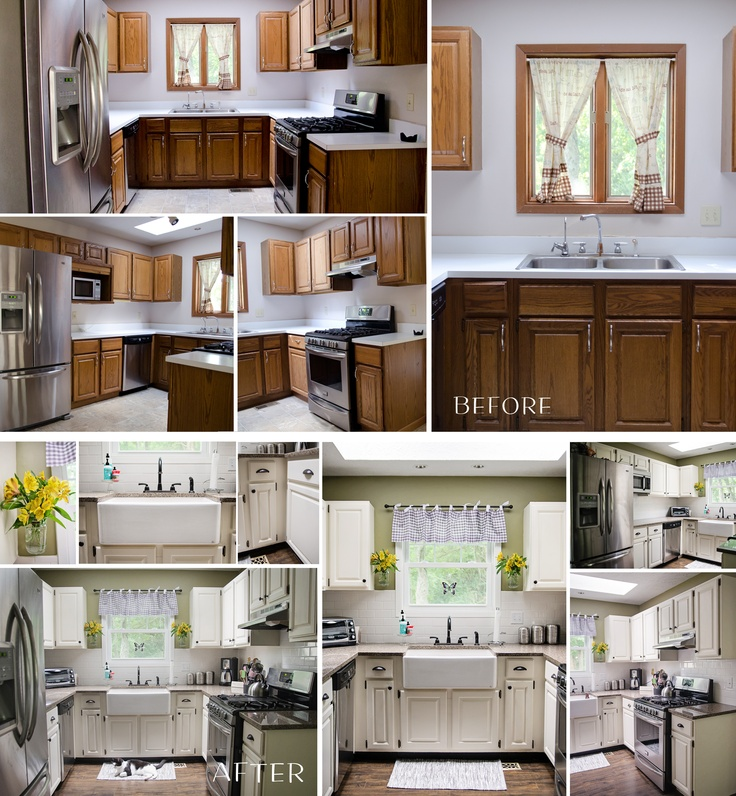 Best Paint For Kitchen Cabinets No Sanding: 17 Best Ideas About Small Kitchen Makeovers On Pinterest
