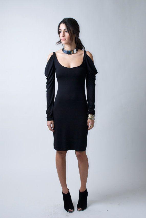 Party Dress / Black Cocktail Dress / Sheath Dress by marcellamoda